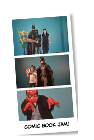 images from previous events with costumed characters